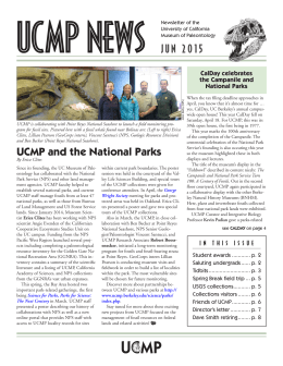 UCMP and the National Parks JUN 2015