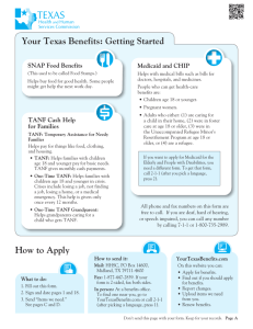 Your Texas Benefits: Getting Started How to Apply