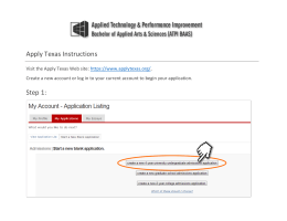 Screenshots of Apply Texas Instructions - BAAS