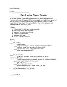The Crucible Theme Groups