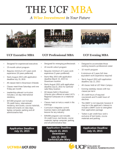 THE UCF MBA - College of Business Administration