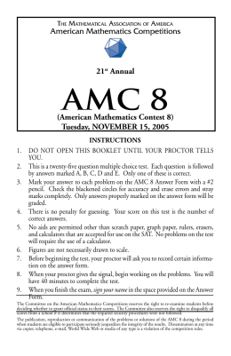 Sample problems from AMC 8