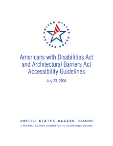 Americans with Disabilities Act and Architectural Barriers Act