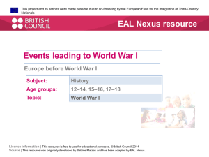 Europe before WW1 PDF - EAL Nexus