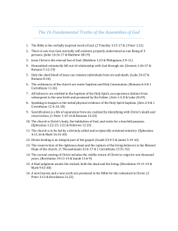 16 Fundamental Truths of the AG