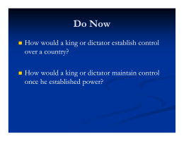 Absolute Monarchs Ppt