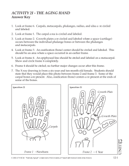 ACTIVITY 2I - THE AGING HAND - Answer Key