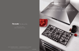 masterpiece™ series cooktops and ventilation