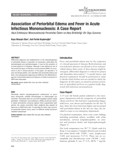 Association of Periorbital Edema and Fever in Acute Infectious