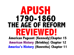 American Pageant (Kennedy)Chapter 15 American History (Brinkley