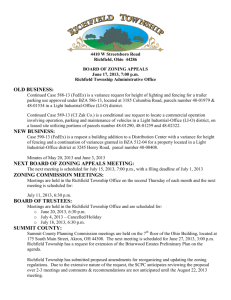 RICHFIELD TOWNSHIP ZONING COMMISSION