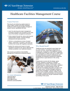 Healthcare Facilities Management Course
