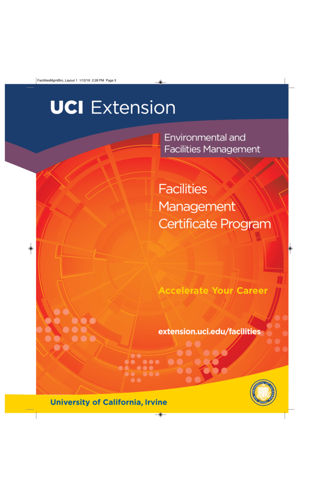 Facilities Management Brochure Uci Extension
