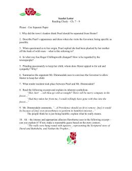 Scarlet Letter Quiz Ch