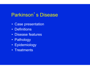 Parkinson's Disease - Brain & Cognitive Sciences