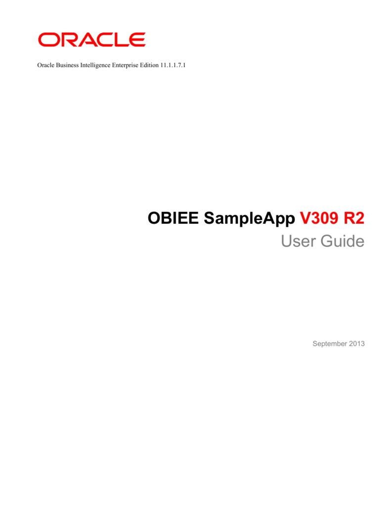 OBIEE SampleApp User Guide ampleApp V309 R2 User Guide