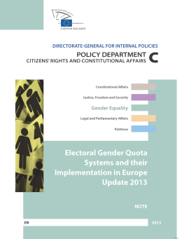 Electoral Gender Quota Systems and their Implementation in Europe