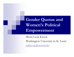 Gender Quotas and Women's Political