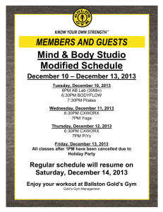 MEMBERS AND GUESTS Mind & Body Studio