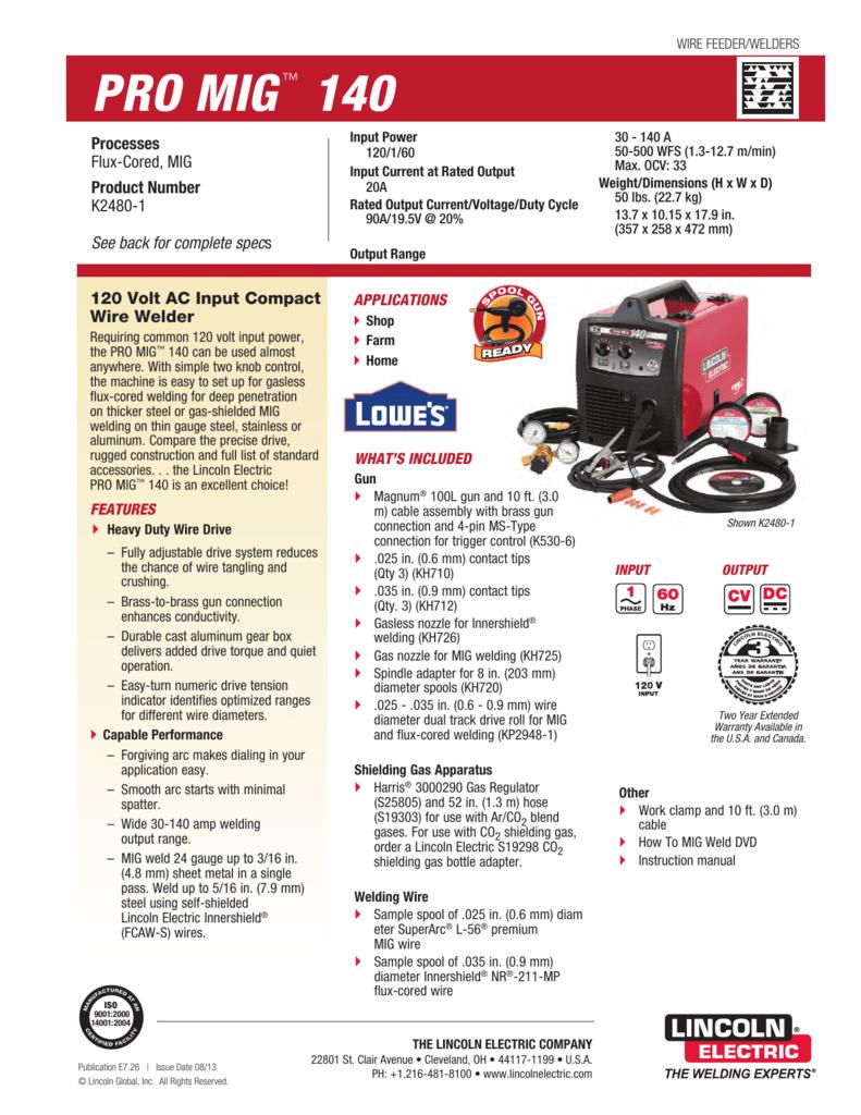 PRO MIG 140 Product Info
