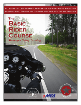 Motorcycle Safety Training - Allegany College of Maryland