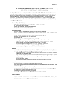 JOB DESCRIPTION FOR ADMINISTRATIVE ASSISTANT – PART