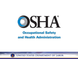 OSHA's training requirements