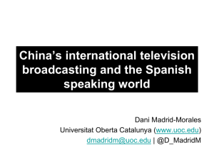 China's international television broadcasting and the Spanish