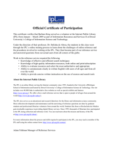 IPL Certificate of Participation INFO 511 - Drexel University