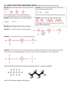 6.2 LEWIS STRUCTURE ADDITIONAL NOTES DRAWING LEWIS