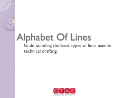 PowerPoint on the alphabet of lines