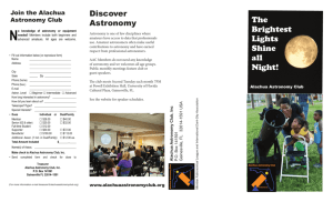 Discover Astronomy The Brightest Lights Shine all Night!