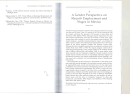 A Gender Perspective on Maquila Employment and Wages in Mexico