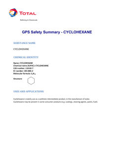GPS Safety Summary - CYCLOHEXANE
