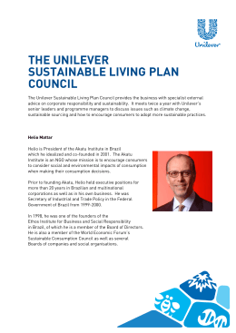 The Unilever Sustainable Living Plan Council member profilesPDF