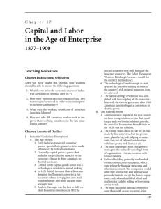 Capital and Labor in the Age of Enterprise