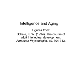 Intelligence and Aging
