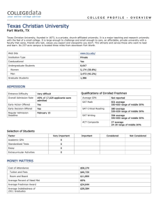 Texas Christian University College Profile Print Version