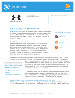 Case Study: Under Armour