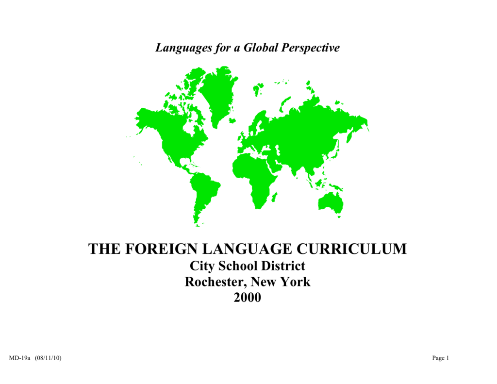 1167102a0 The Languages Other Than English (LOTE) Curriculum