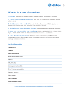 What to do in case of an accident.