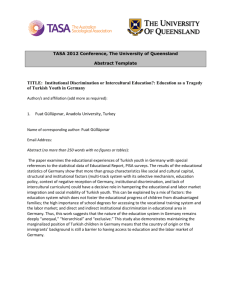 TITLE: Institutional Discrimination or Intercultural Education?