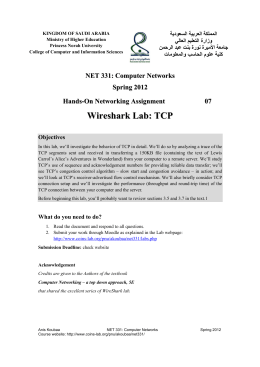 Wireshark Lab: TCP
