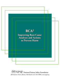 Improving Root Cause Analyses and Actions to Prevent Harm