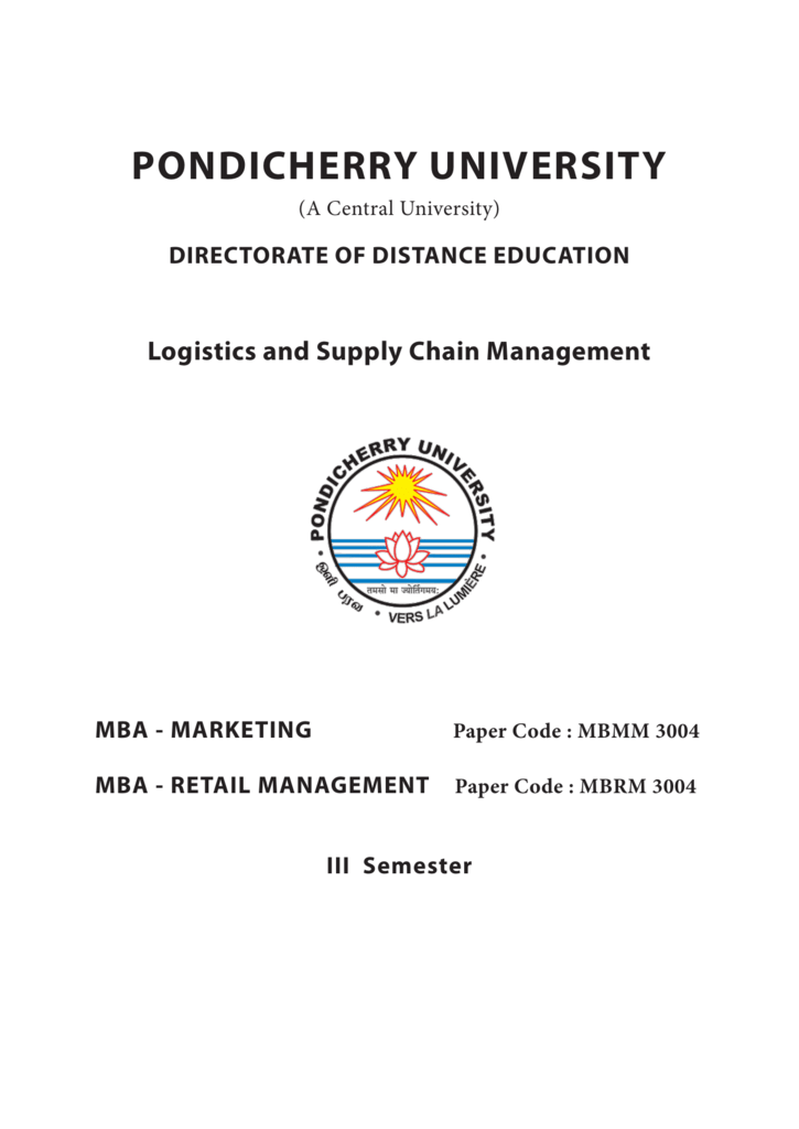 Chopra Meindl Supply Chain Management Ebook