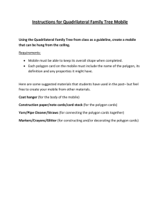 Instructions for Quadrilateral Family Tree Mobile