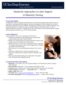 Hands-On Approaches to Labor Support in Maternity Nursing