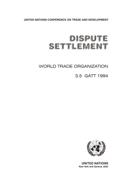 world trade organization 3.5 gatt 1994
