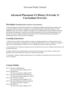 Advanced Placement US History II