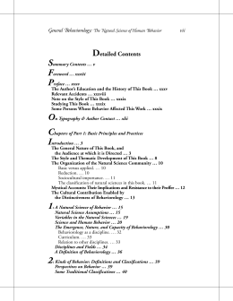 Detailed Table of Contents